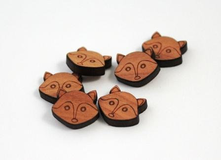 Laser Cut Supplies-8 Pieces. Cute Fox Charms-Acrylic.Wood Laser Cut Shapes