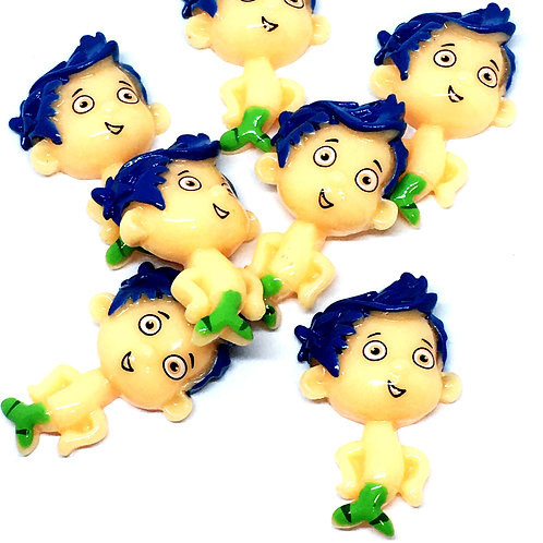 1 Piece.Bubble Guppies Boy Resin Cabochons Flatbacks