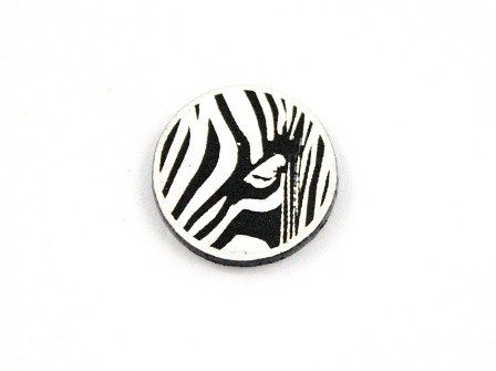 Laser Cut Supplies-8 Piece. Zebra Charms-Acrylic and Wood Lasercut Shapes