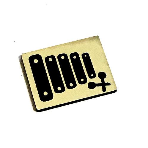 1 Piece. Xylophone Cabochon -Acrylic Laser Cut Shapes