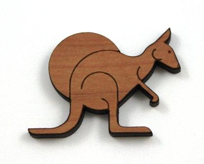 1 Piece. Australian Kangaroo Charms- Wood Laser Cut Shapes