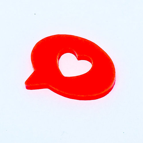 1 Piece. Speech Bubble Love Cabochon Charms-Acrylic Laser cut Shapes Online