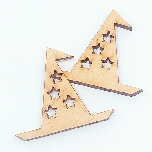 copy of Lasercut Craft Wood Wizard Hat–1 Piece.35mm Wide. Scrapbook. Wood Craft