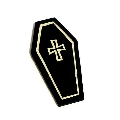 8 Piece. Halloween Coffin Mini Cabochons-Acrylic Laser Cut Shapes