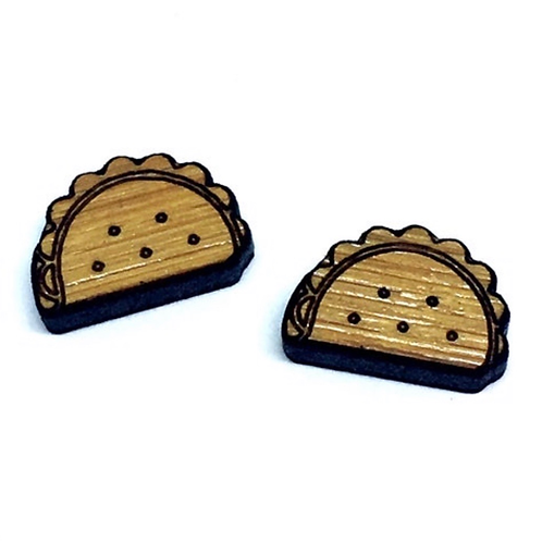 Laser Cut Jewelry Supplies.8 Pieces. Taco Charms