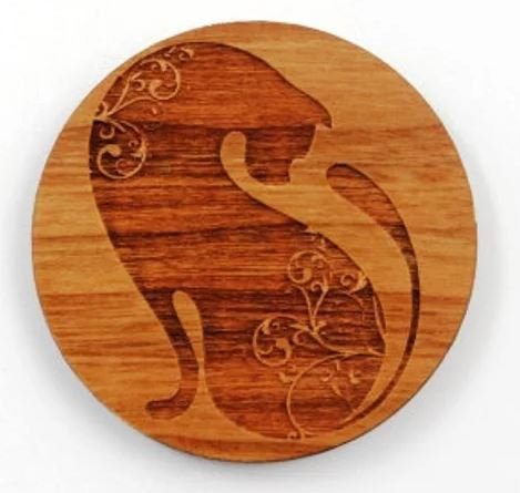 Laser Cut Supplies-1 Piece.Cat Charms-Acrylic. Wood Laser Cut Shape