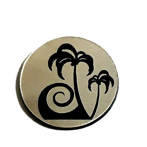 8 Piece. Summer Palm Tree Mini Cabochons-Acrylic Laser Cut Shapes