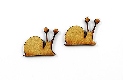 1 Piece. Slippery Snail Charms-Wood Laser Cut Shape