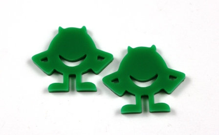 Laser Cut Supplies-1 Piece. Monster Charms-Acrylic.Wood Laser Cut Shape