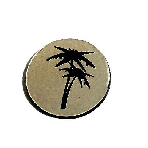 8 Piece. Palm Tree Mini Cabochons-Acrylic Laser Cut Shapes