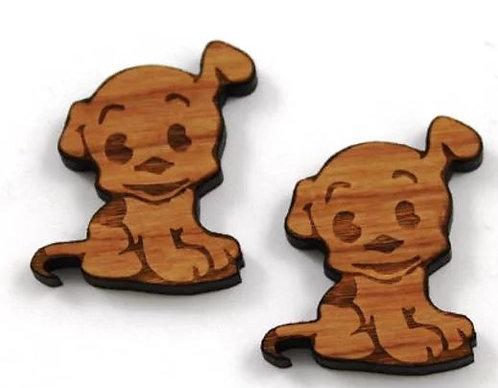 Laser Cut Supplies- 1 Piece.Puppy Charms-Acrylic. Wood Laser Cut Shape