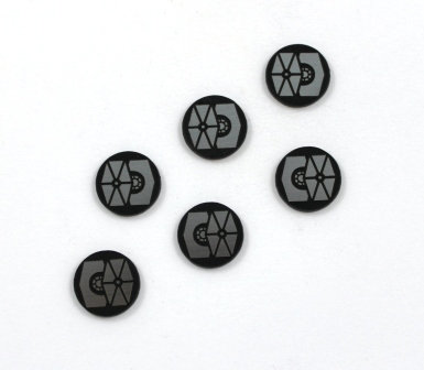 Laser Cut Supplies-8 Piece. Star Wing Charms-Acrylic and Wood Laser Cut Shapes