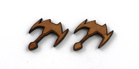 1 Piece. Star Ship Charms- Wood Laser Cut Shapes