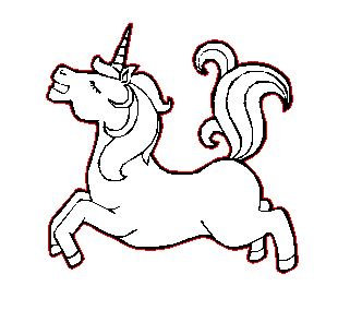 Laser Cut Prancing Unicorn Charm