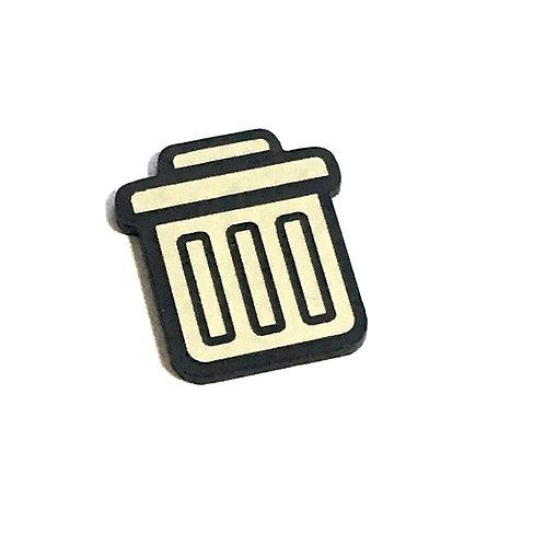 8 Piece. Trash Can Mini Cabochons-Acrylic Laser Cut Shapes