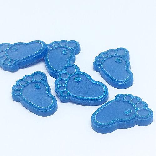 Laser Cut Supplies-8 Piece. Little Feet Charms-Acrylic.Wood Laser Cut Shapes
