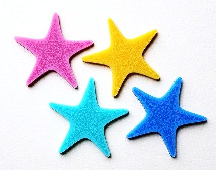 Laser Cut Supplies-1 Piece. Star Fish Charms-Acrylic.Wood Laser Cut Shape