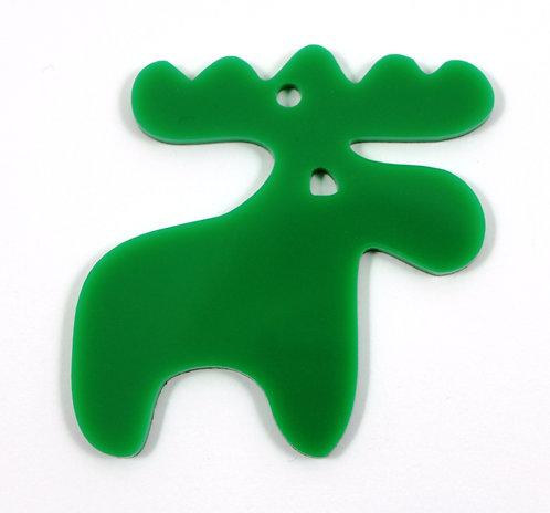 Laser Cut Supplies-1 Piece. Smooth Moose Charms-Acrylic.Wood Lasercut Shape
