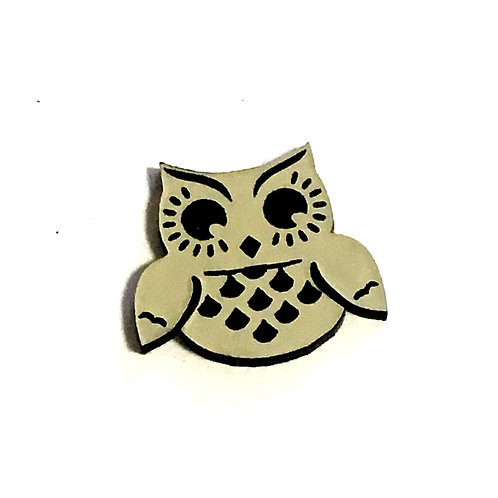 8 Piece.Bright Eyes Owl Cabochons-Acrylic Laser Cut Shapes