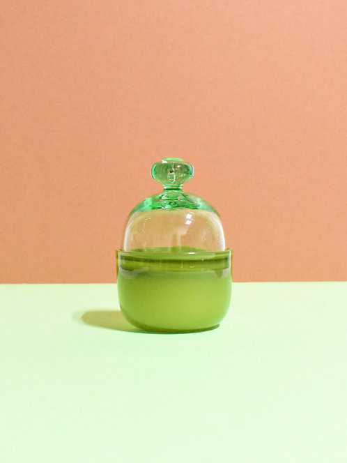 Mossy Olive Lidded Container
