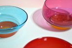 Gelatin Bowls in Drupe, Marasca, and Blueberry-Orange