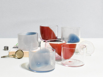 Pigeon-Ruby Wisps (Set of 6 Juice Glasses)