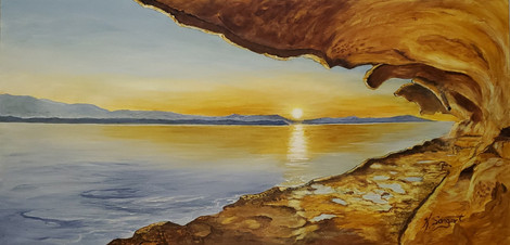 Malaspina Galleries Sunset
