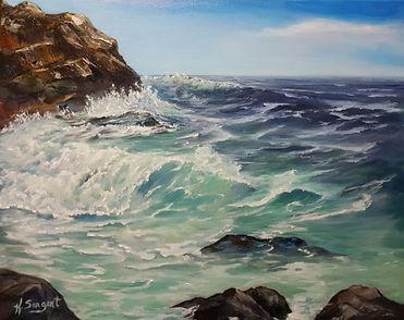 Vancouver Island Ocean Painting