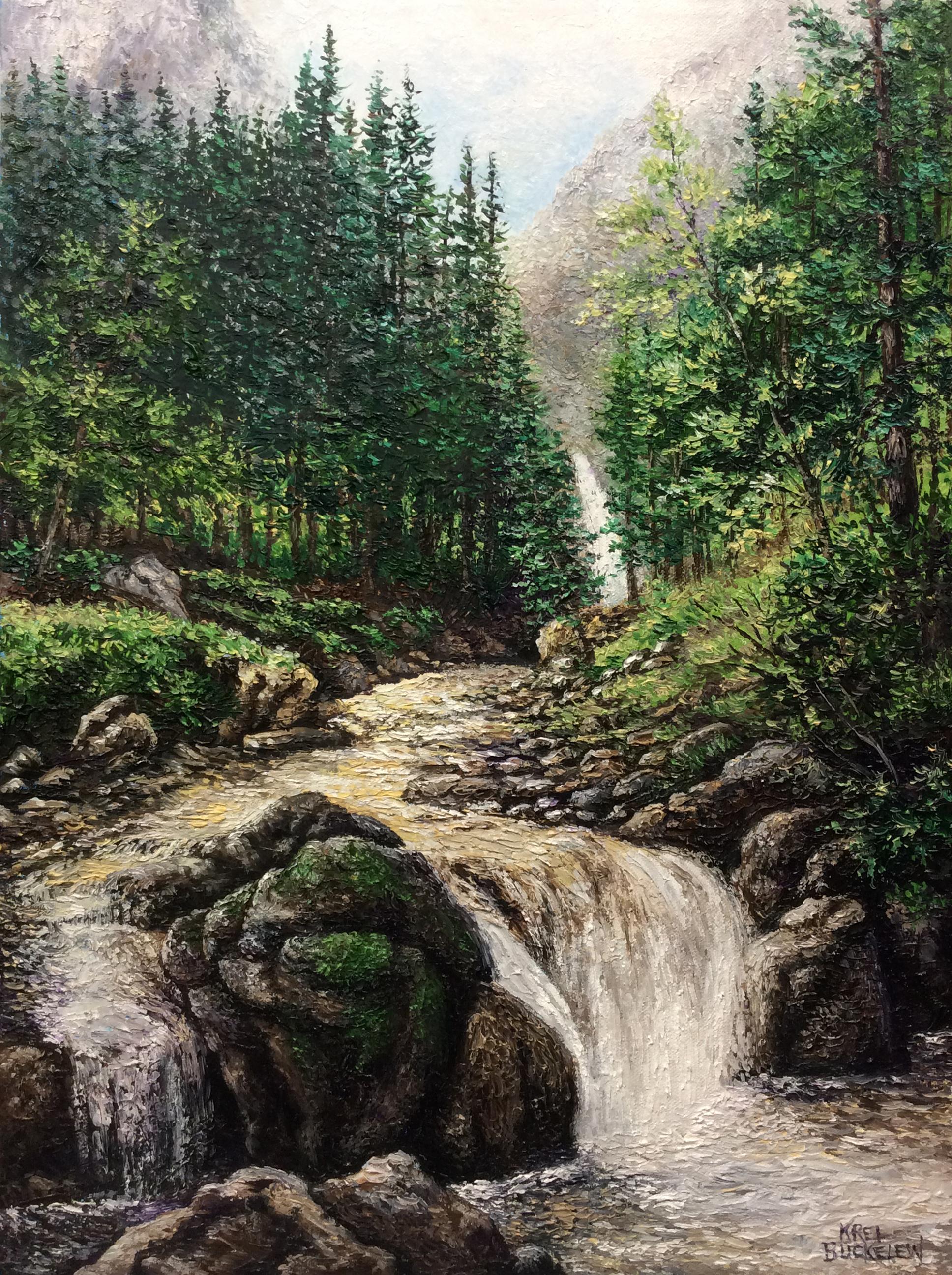 Rocky Mountain Falls in Springtime copy