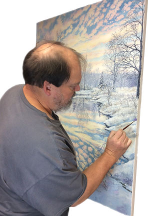 Painting Winter reflections.jpg