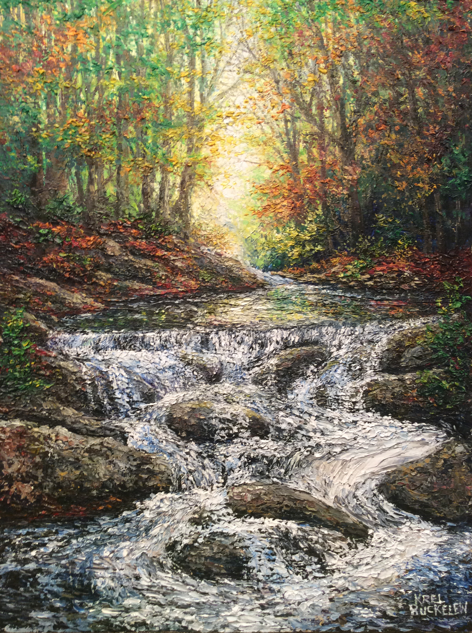 Autumn Light Waterfall