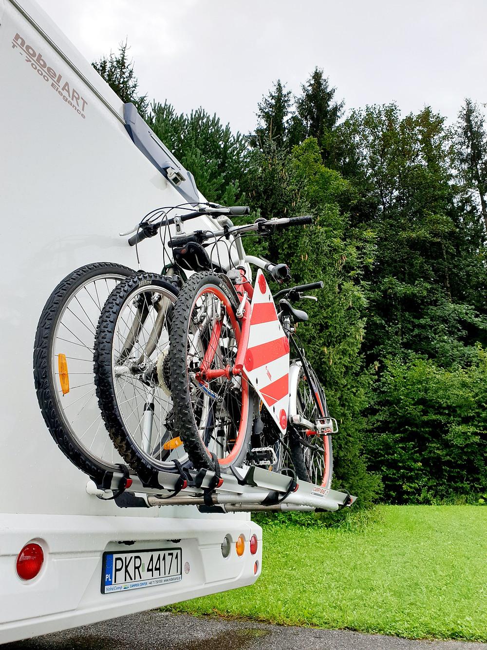 Rowery w kamperze