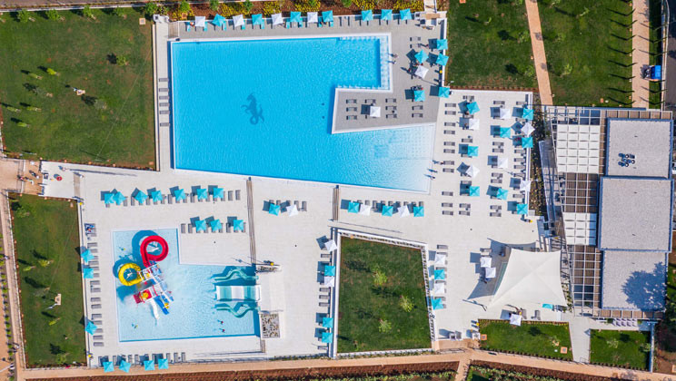 baseny campingu Park Umag w Chorwacji