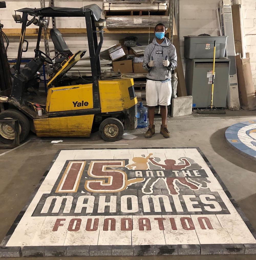 custom pavers, 15 and the mahomies foundation, custom pavers,