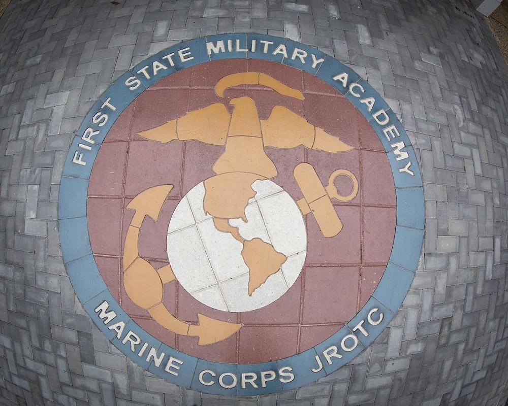 First State Military Medallion, PAVERART, paver logo, landscape architect, custom paver design