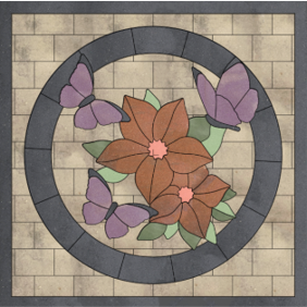 paver design, floral paver kit, patio design ideas, paver designs, custom pavers