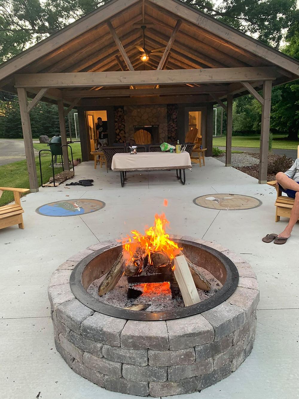 PAVERART, landscape design, fire pit, landscape architecture, backyard, patio ideas