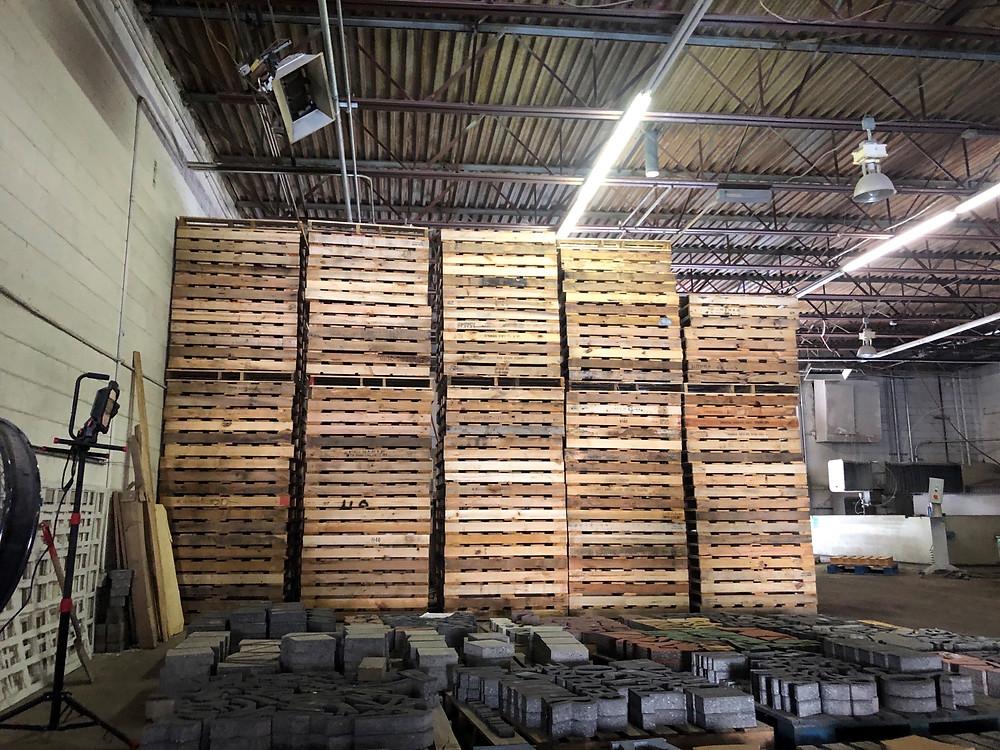 paverart, manufacturing, pallets