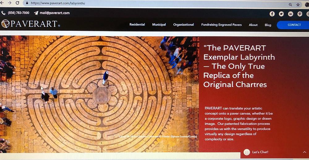 PAVERART, Labyrinth, pavers, hardscaping, outdoor living, landscape design, landscape architecture, inlays, pavers, hardscape