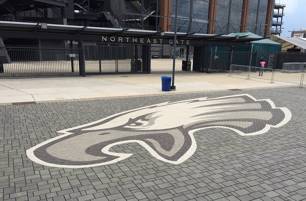 Logo, PAVERART, hardscaping, Pro Sports Logos, pavers, landscape architecture, eagles