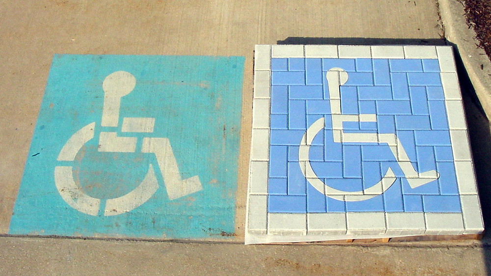 handicap parking symbol, handicap paver symbol, paver parking symbol, paverart, PAVERART handicap kit