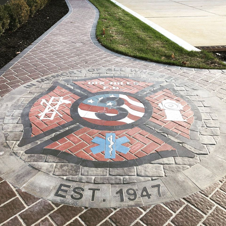 maltese cross, paverart, fire department, memorial