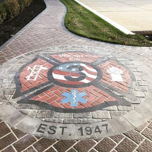 maltese cross, paverart, fire department, memorial