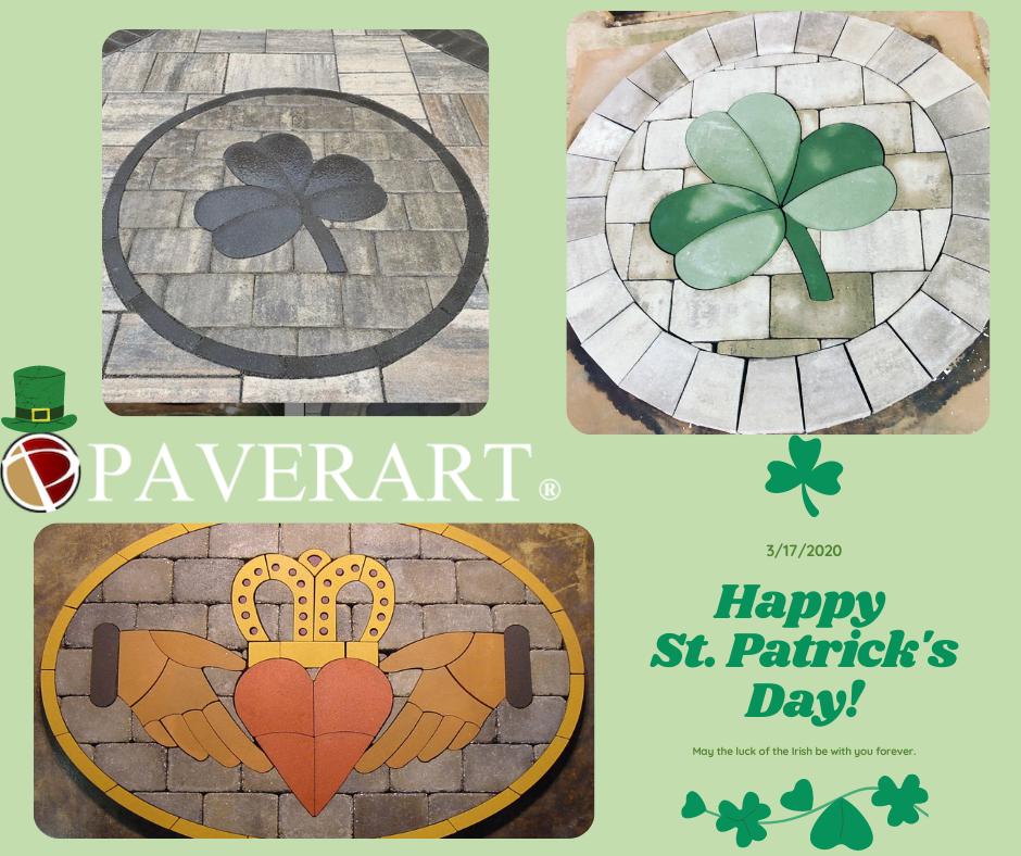 custom pavers, paver design, patio kits, paver kits, shamrock, patio ideas