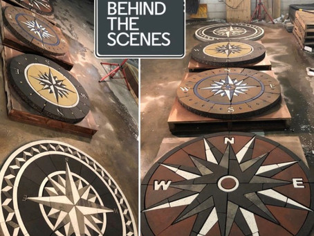 A Week in the Life: Building Outdoor Living Compass Rose Paver Designs