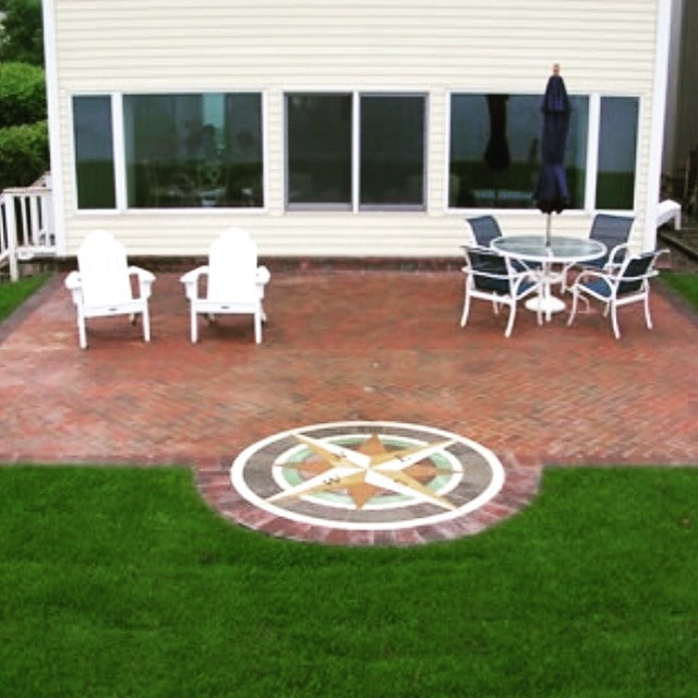 patio ideas, outdoor living, PAVERART, landscape design, landscape architecture, Compass Rose