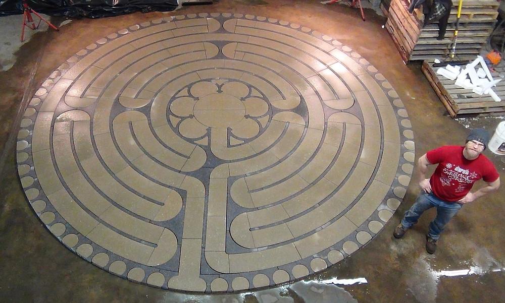 labyrinth, mediation, paverart, large stone labyrinth, labyrinth kit, customized labyrinth