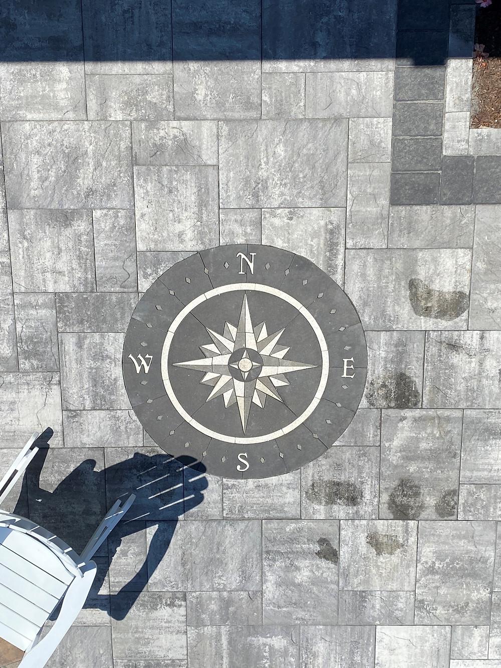 compass rose paver kit, patio compass, patio ideas, patio design kits, outdoor living