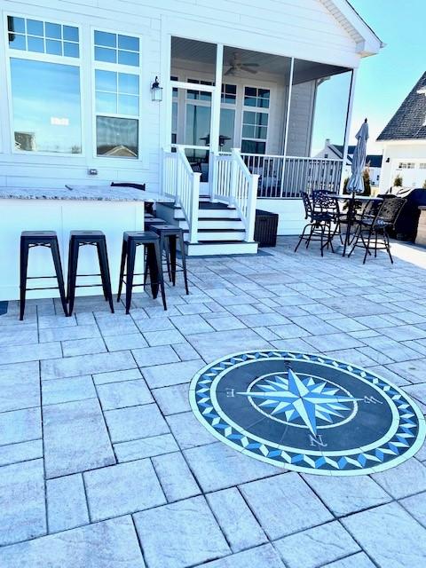 PAVERART, compass rose, inlay, patio design, patio ideas, paver design kits, paver compass