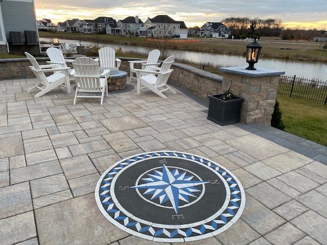 paverart, compass rose paver kit, paver design, custom pavers, landscape design, patio ideas